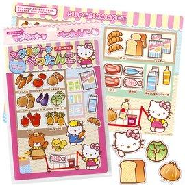 兒童磁鐵書-Baby Joy World-日本進口創意遊戲磁鐵書-Kitty購物樂