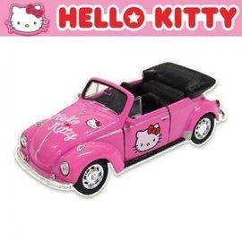 汽車造型玩具-Baby Joy World-韓國原裝進口Hello kitty 汽車模型 迴力車-敞篷車