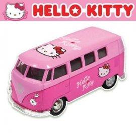 汽車造型玩具-Baby Joy World-韓國原裝進口Hello kitty 汽車模型 迴力車-粉紅巴士