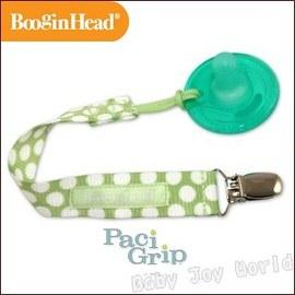 奶嘴鍊-Baby Joy World-美國BooginHead Paci Grip 奶嘴夾鍊-綠底白點