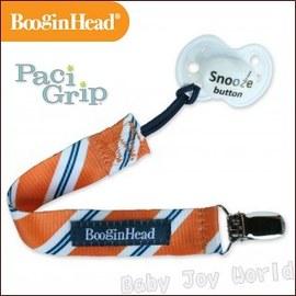 奶嘴鍊-Baby Joy World-美國BooginHead Paci Grip 奶嘴夾鍊-橙色領帶斜條紋