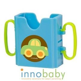 Baby Joy World-美國Innobaby鋁箔飲料輔助器、飲料杯架【可折疊方便收納攜帶】-藍色