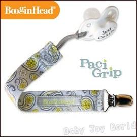奶嘴鍊-Baby Joy World-美國BooginHead Paci Grip 奶嘴夾鍊-銀色佩斯利花