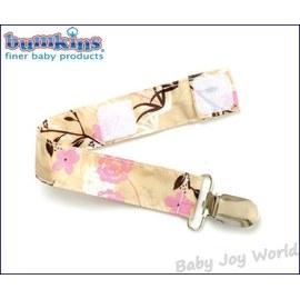 奶嘴鍊防落帶-Baby Joy World-美國Bumkins Pacifier Clip 奶嘴夾鍊-日式復古花朵(PC-464)