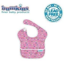 圍兜口水巾-美國Bumkins Super Bib透氣防水防臭兒童圍兜口水巾-【3個月~2歲適用(無袖)】-愛心小鳥(S740)