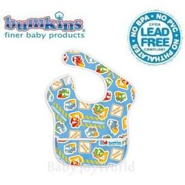 圍兜口水巾-美國Bumkins Super Bib透氣防水防臭兒童圍兜口水巾-工程車(S899)