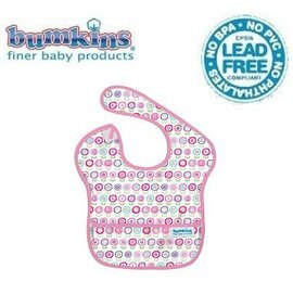 圍兜口水巾-美國Bumkins Super Bib透氣防水防臭兒童圍兜口水巾-【3個月~2歲適用(無袖)】-可愛花朵(S750)