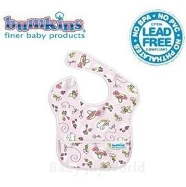 圍兜口水巾-美國Bumkins Super Bib透氣防水防臭兒童圍兜口水巾-可愛粉紅兔(S202)