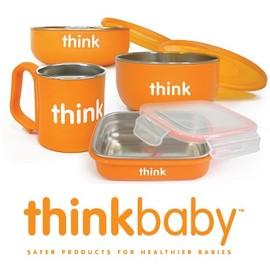 -兒童餐具-Baby Joy World美國Thinkbaby BPA Free 無毒安全不銹鋼嬰幼兒童餐具組