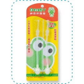 Baby Joy World-DOOBY【大眼蛙】DB-4122 神奇喝水杯200cc替換吸管2入(台灣製)