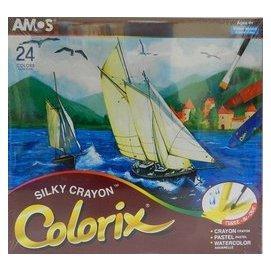 蠟筆-Baby Joy World-【韓國AMOS】24色水蠟筆 紙盒包裝 台灣總代理商公司貨