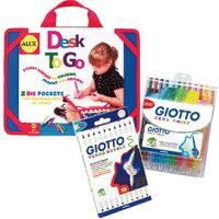 兒童節禮物Children's Day到兒童塗鴨玩具-Baby Joy World-【美國ALEX】我的旅行畫板+義大利 GIOTTO可洗式兒童安全彩色筆(12色)