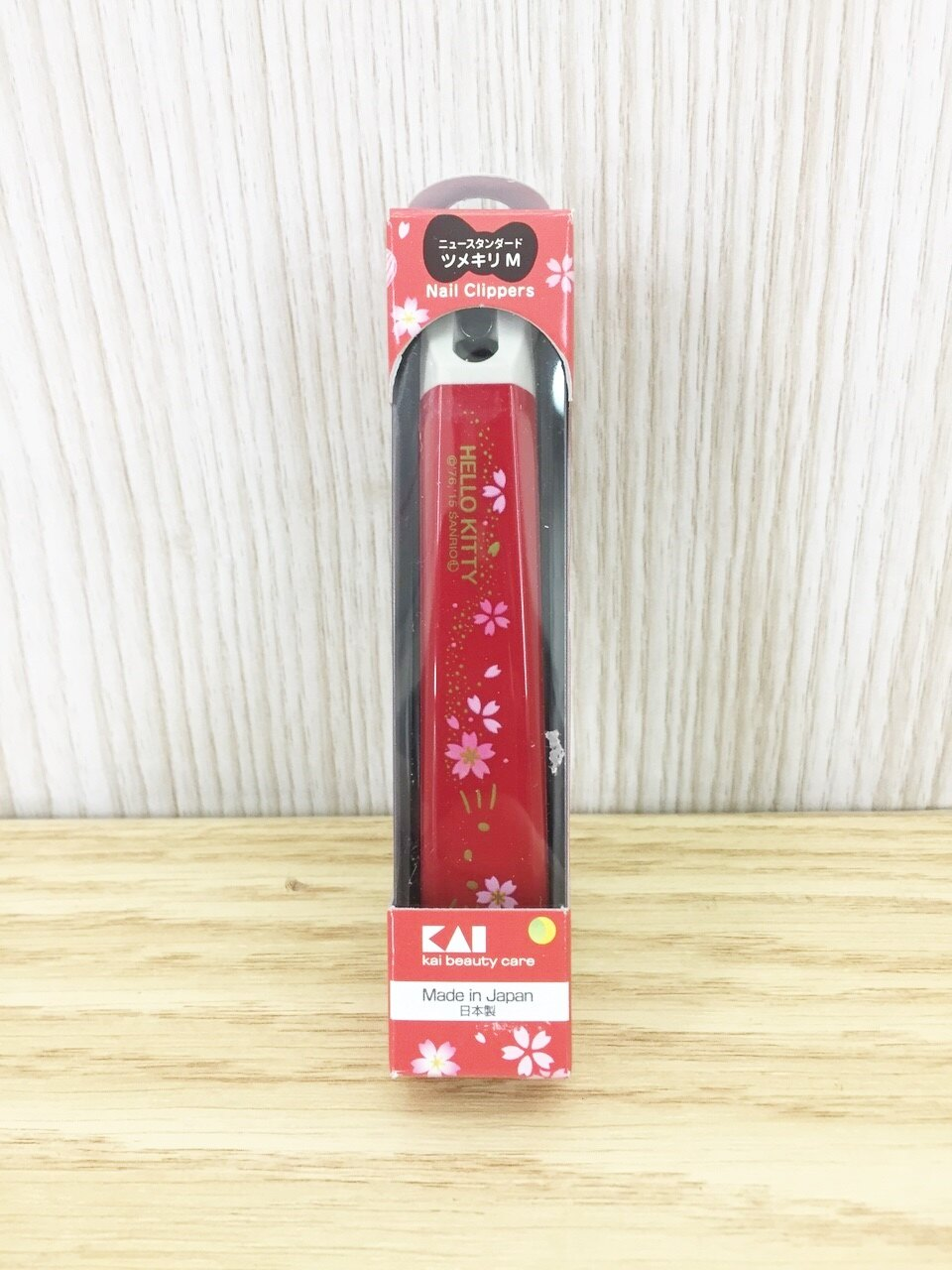 【真愛日本】15121300001 日本製指甲剪-KT櫻花紅 三麗鷗家族 KITTY 凱蒂貓 日用品 指甲剪 個人清潔用品
