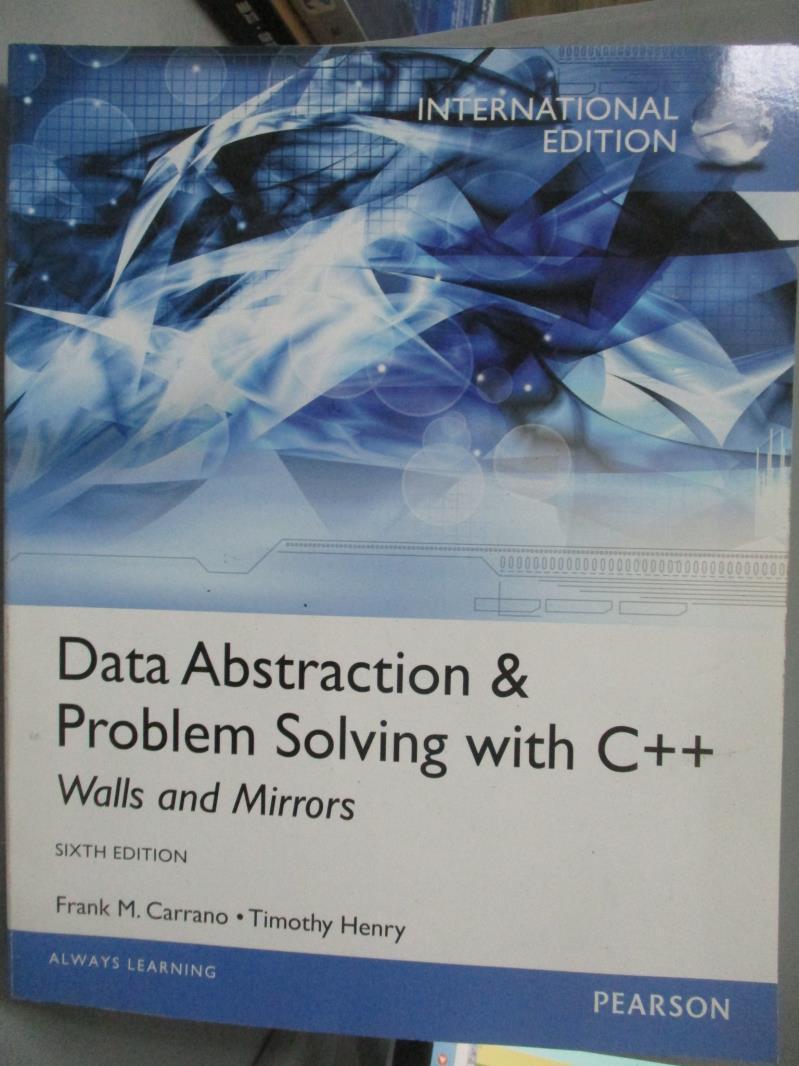 ~書寶 書T1/大學理工醫_ZHI~Data Abstraction   Problem