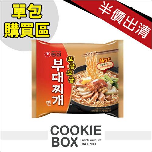 【即期品2017/3/8到期】 韓國 農心部隊鍋 Q拉麵 辣味 最新 單包 127g *餅乾盒子*
