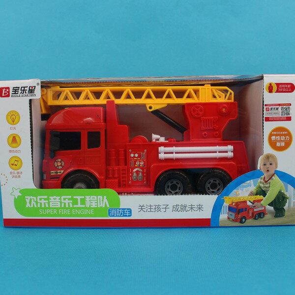 寶樂星 6875 音效摩輪消防車^(附電池^)  一台入 ^~ 促350 ^~ 會說故事的