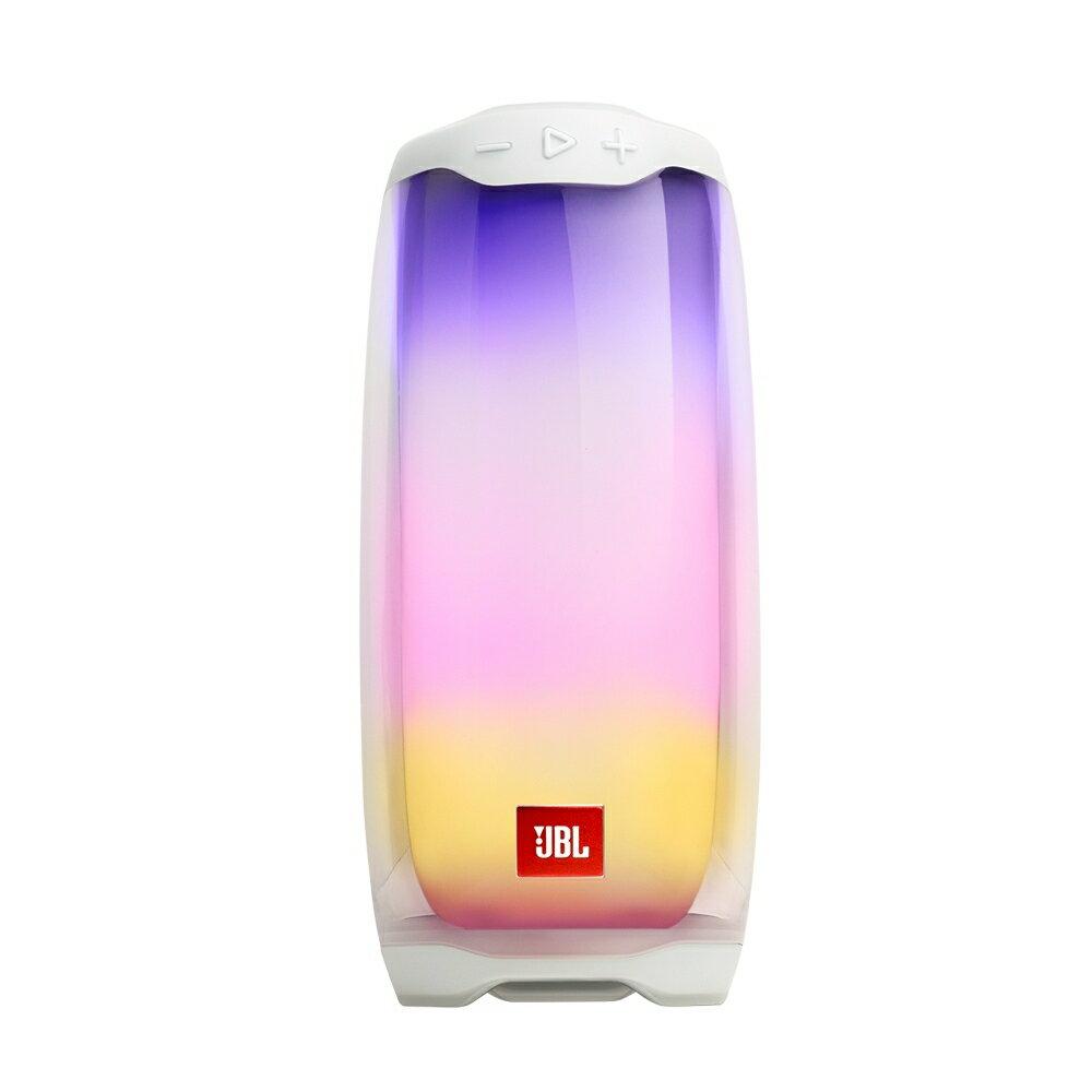 英大公司貨/實體店面『JBL PULSE 4 白色 』360度炫彩藍牙喇叭/藍芽/IPX7防潑水/彩色LED燈/JBL Connect App/另售 PULSE 3