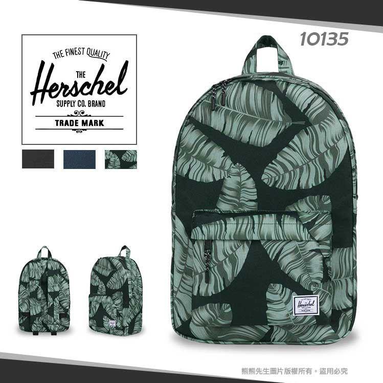 《熊熊先生》Herschel加拿大潮流品牌素色花布 帆布雙肩包10135後背包Classic Mid運動包旅行包學生背包