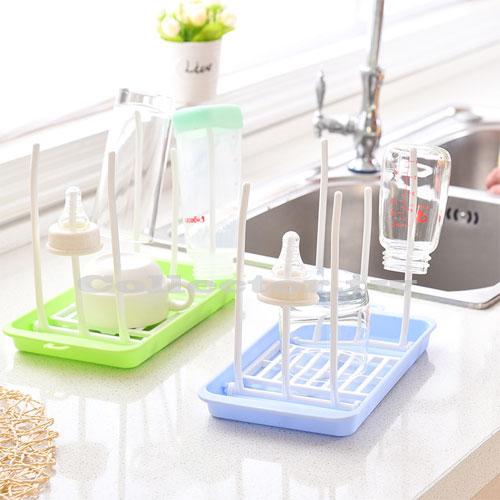 【N17022201】日本-高品質折疊塑料瀝水杯架 玻璃杯掛架 茶杯奶瓶晾乾瀝水架