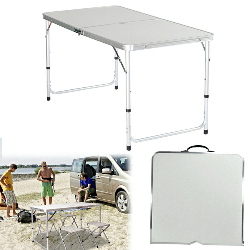 Folding Table Portable Plastic Picnic Party Dining Camp Table 0