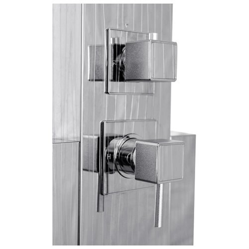 AKDY 48-inch Stainless Steel Shower Wall Panel System with Rainfall Shower AK3315-37 1