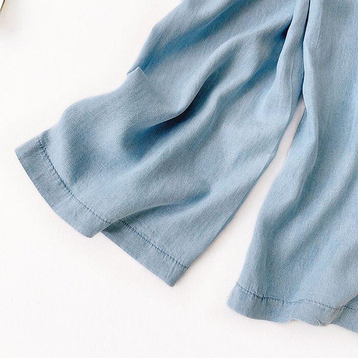 七分褲 素色 寬管褲 垂墜感 薄款 鈕扣 裝飾 鬆緊腰 七分褲【HA821】 BOBI  05 / 30 6