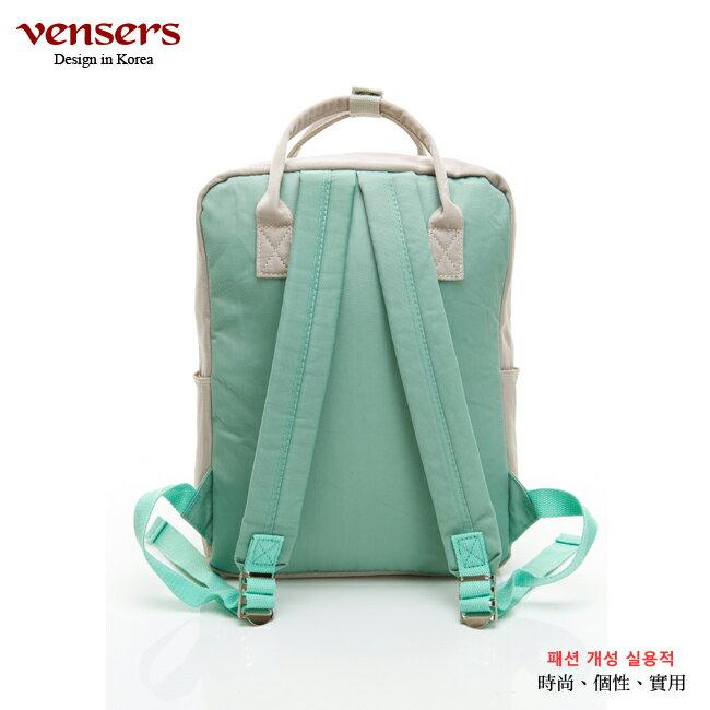【vensers】 都會風後背包 (RB0890401卡其綠) 3