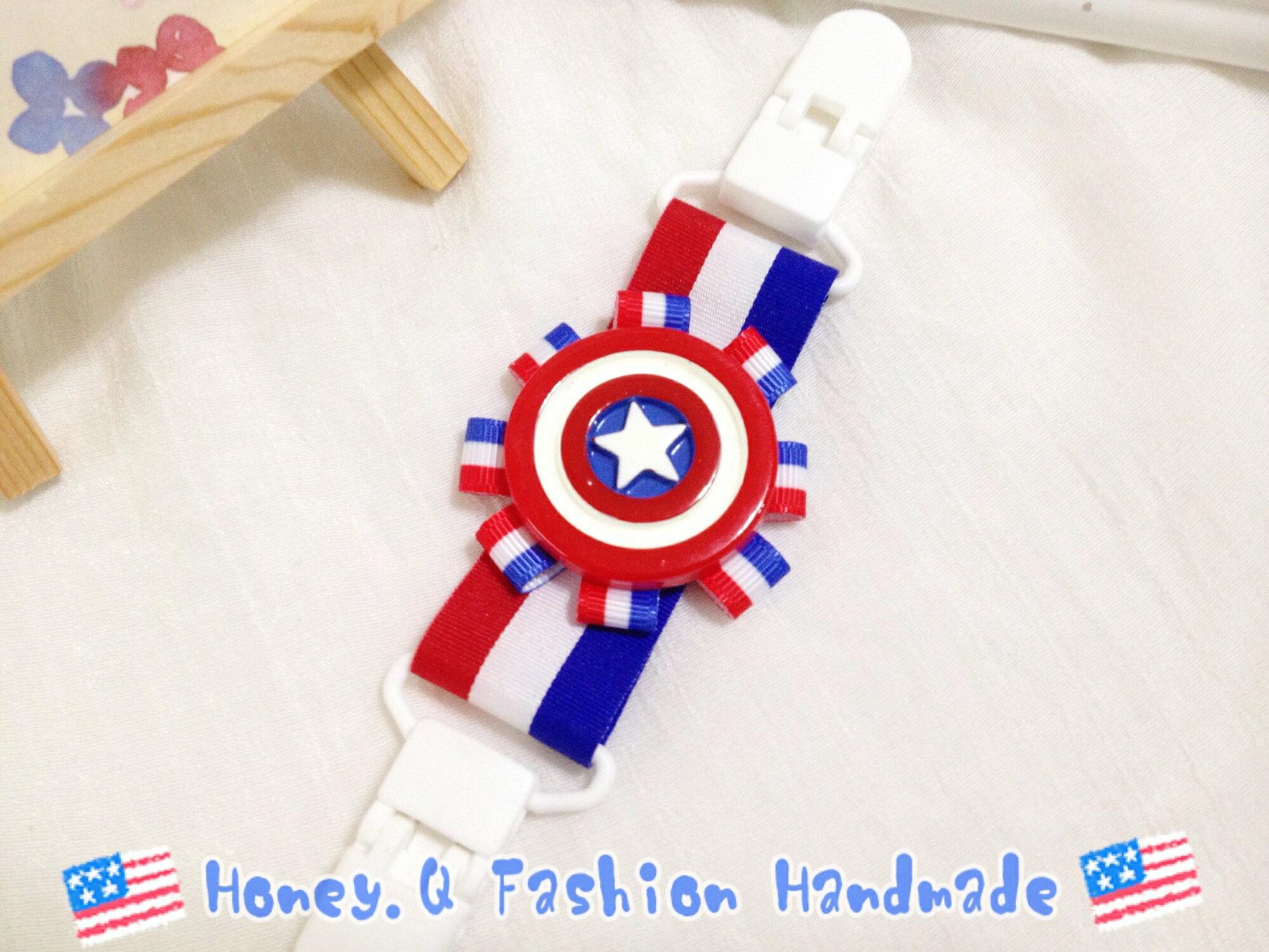 Honey Q-美國隊長帥氣手帕夾