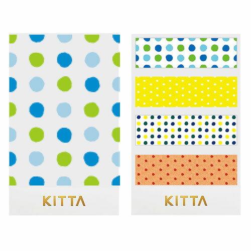 【日本KITTA】隨身攜帶和紙膠帶KIT033圓點點3本