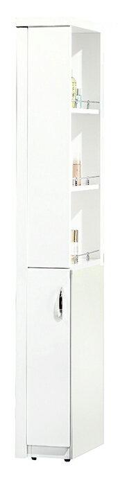 【尚品家具】JF-112-1 妮可拉白色側拉立鏡櫃
