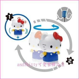 asdfkitty可愛家☆KITTY翻滾吧發條玩具-可前進移動-紅蝴蝶結和雙手都會動歐-兒童節.聖誕節禮物-日本正版