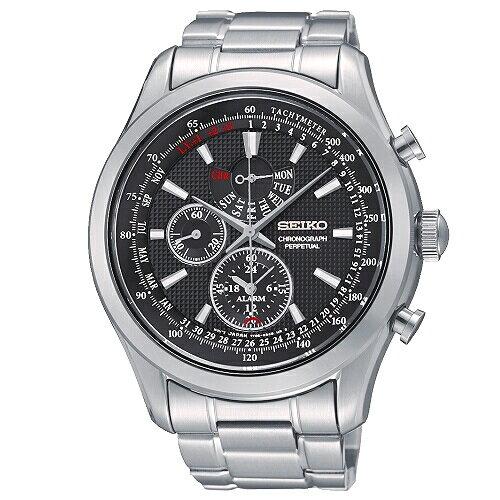 SEIKOCS帥氣時尚風格多功能男腕錶黑面42mmSPC127P1(7T86-0AC0D)