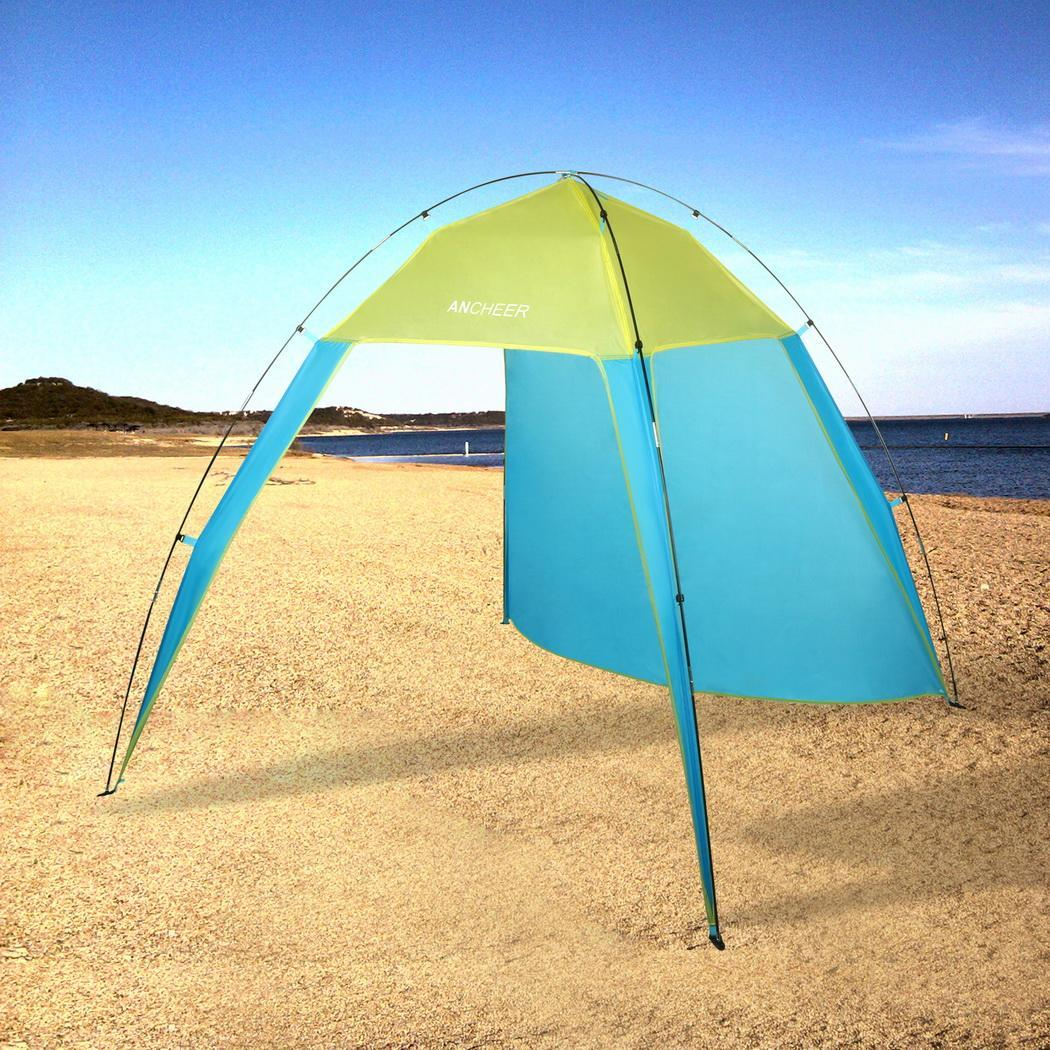 Single Layer Waterproof Open Fishing Beach Sunscreen Tent with Carry Bag 0
