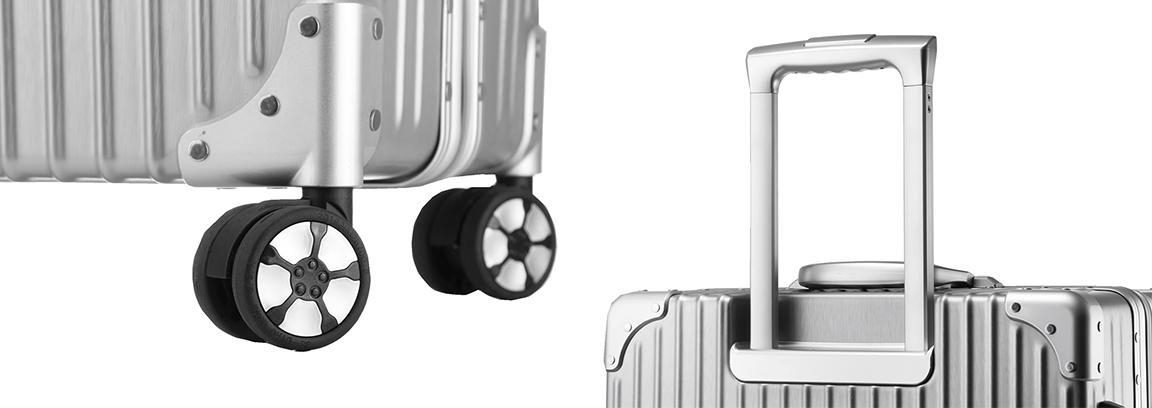限時 滿3千賺10%點數↘ | ~雪黛屋~Enjog 29吋行李箱鋁框防盜固定海關密碼鎖金屬防撞角硬殼箱360度雙飛機輪旋轉耐摔磨損檢測通過#6018