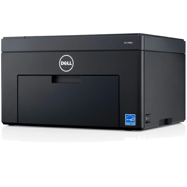 Dell C1660W LED Printer - Color - 600 x 600 dpi Print - Plain Paper Print - Desktop - 12 ppm Mono / 10 ppm Color Print - 150 sheets Standard Input Capacity - 30000 Duty Cycle - Manual Duplex Print - LCD - Wireless LAN - USB 0