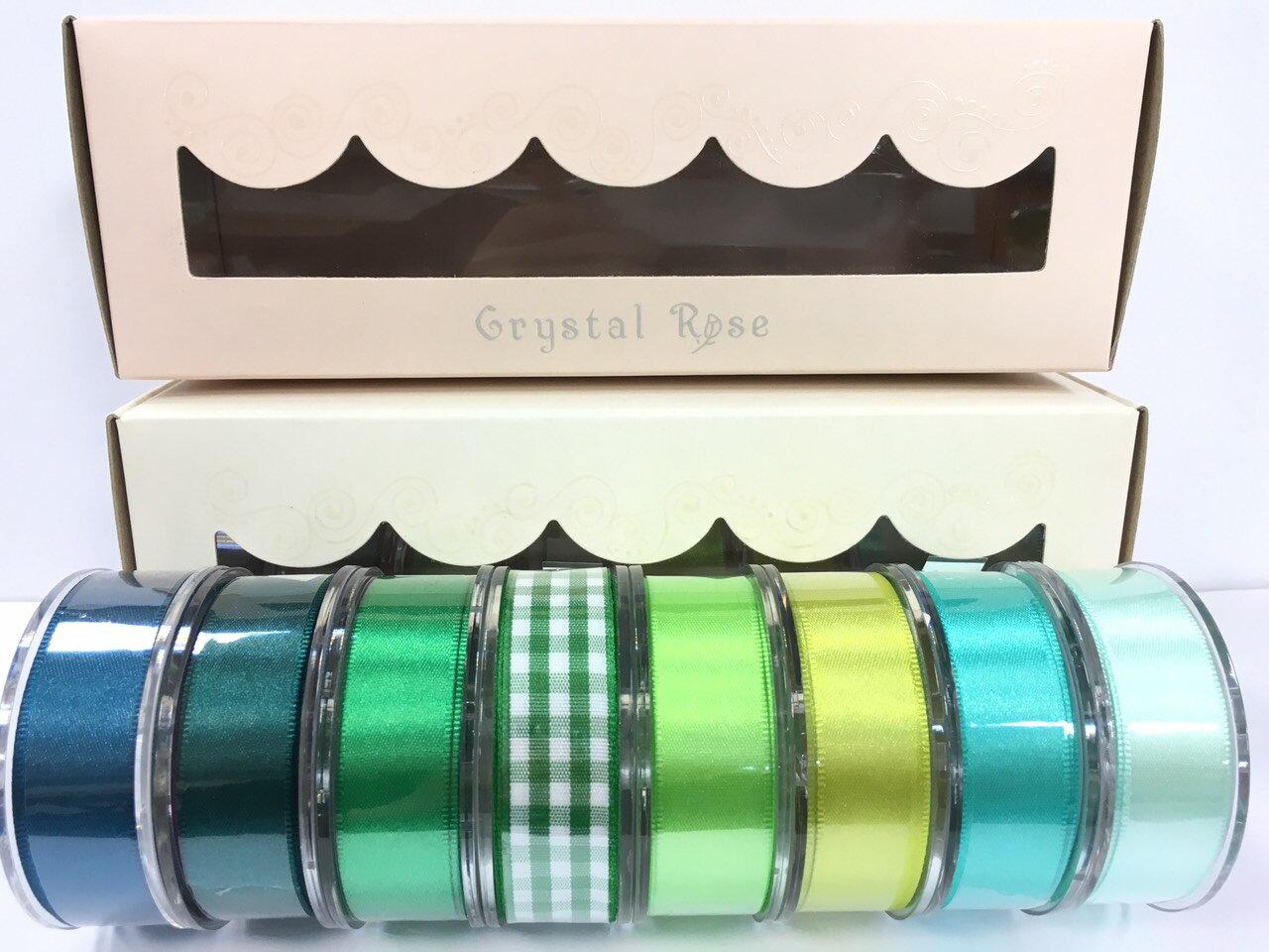 低調奢華盒裝-雙面緞/經典格紋緞帶 15mm 8入(3款) 2