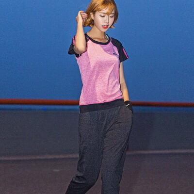 瑜珈服兩件套運動套裝-時尚拼色吸濕速乾女運動服3色73ry16【獨家進口】【米蘭精品】