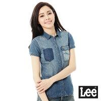 牛仔襯衫推薦到Lee 牛仔101+短袖襯衫-女-藍就在Lee Jeans tw推薦牛仔襯衫