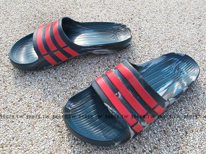 Shoestw【AQ5257】ADIDAS DURAMO SLIDE 拖鞋 一體成型 藍綠迷彩 男女都有 1