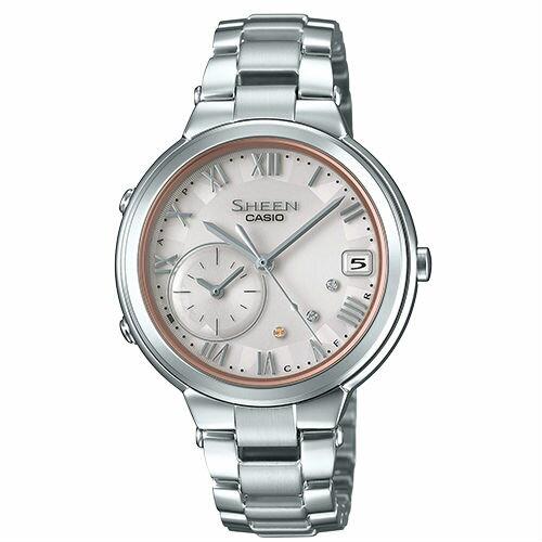 CASIO卡西歐SHEENSHB-200AD-4A太陽能藍芽時尚都會腕錶35mm