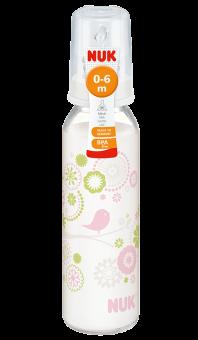 『121婦嬰用品館』NUK 一般口徑印花玻璃奶瓶230ml - (1號中圓洞) 0