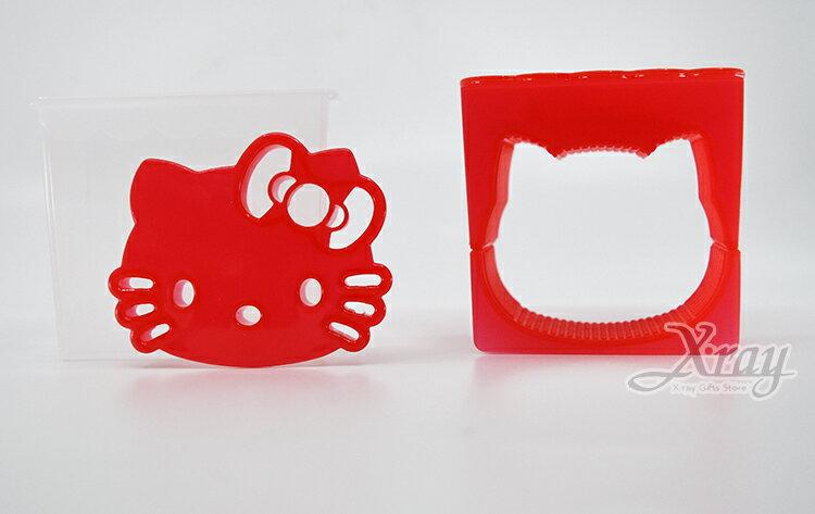 Hello Kitty 大臉飯糰壓模,廚房模具 / 做餐模具 / 野餐料理 / 日本雜貨 / 吐司模型 / 模具 / 便當,X射線【C576703】 3