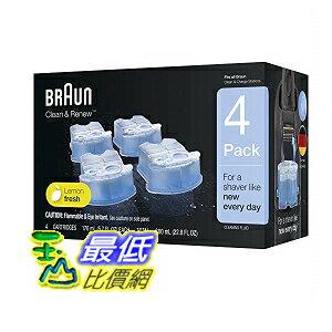 [8美國新款] 4入裝 德國百靈 BRAUN 清潔液 洗淨液 原廠正版品 Braun Clean and Renew 4 Pack