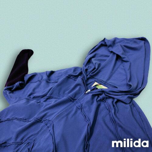 【Milida,全店七折免運】-早春商品-外套款-連帽前短後長風 4
