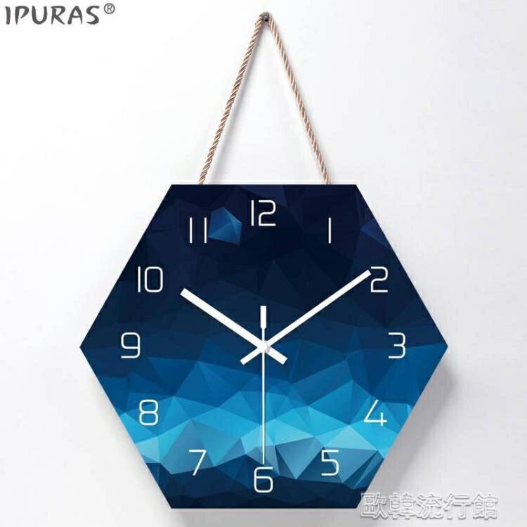 掛鐘 北歐掛鐘客廳裝飾創意時鐘掛墻現代簡約超靜音臥室家用鐘錶免打孔SUPER SALE樂天雙12購物節