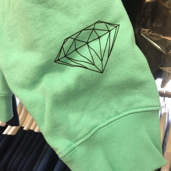 BEETLE PLUS 西門町 全新 DIAMOND SUPPLY CO NEON GIRLS 霓虹 女孩 綠 帽T D14DPF70DBU DA-35 1