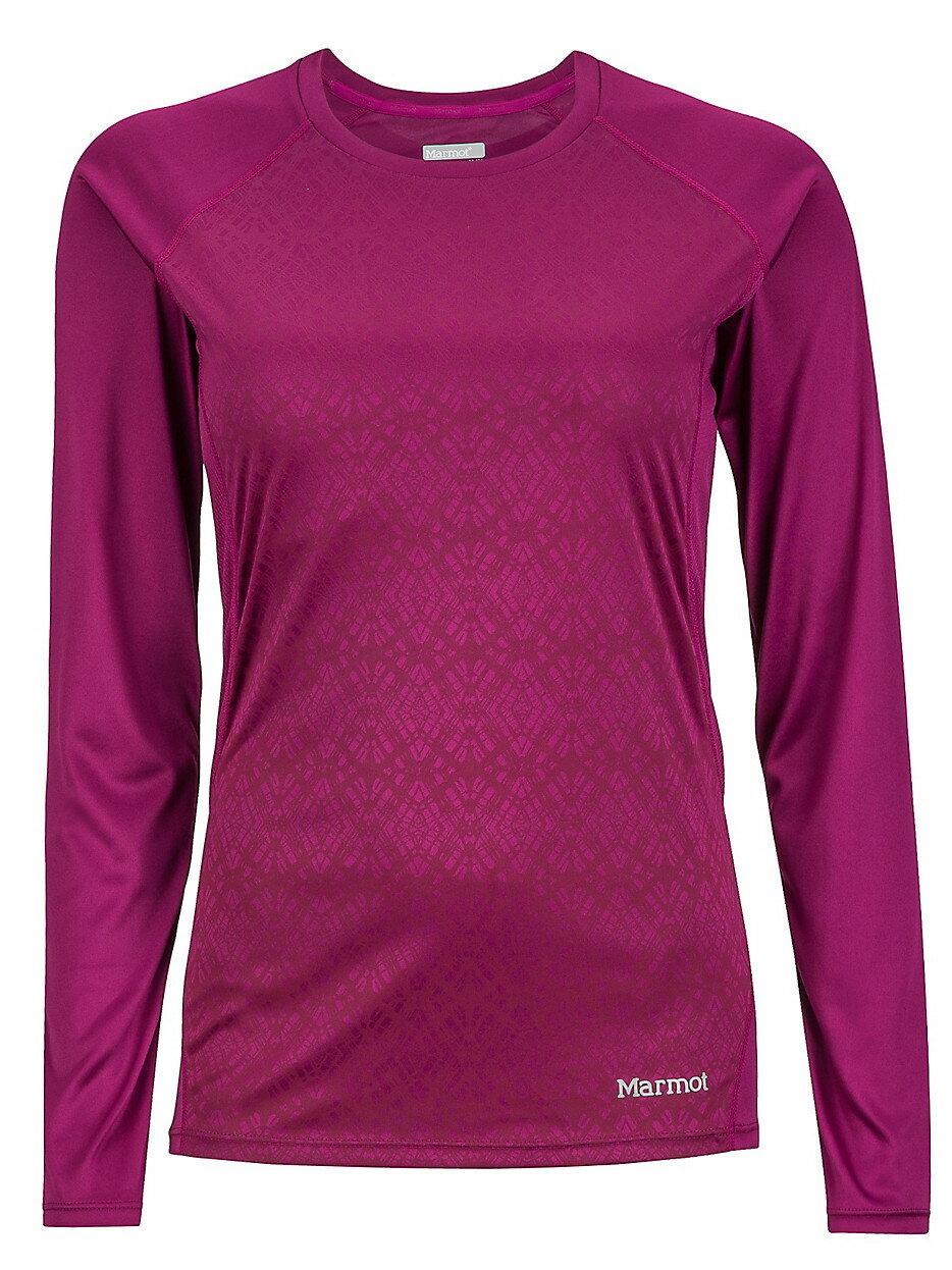 ├登山樂┤美國Marmot土撥鼠 Women's Crystal  女款防曬排汗長袖T恤 紫 #57370-6863