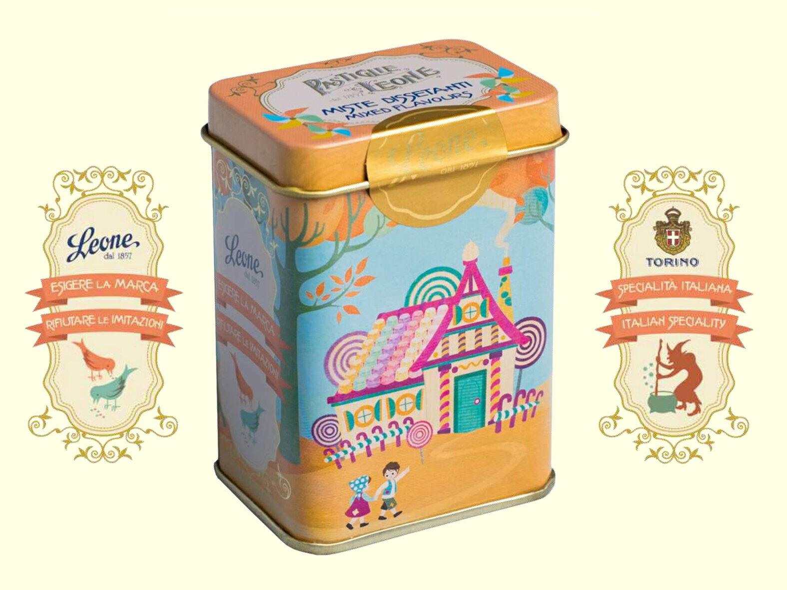 【PASTIGLIE LEONE里歐雷糖果】童話系列鐵罐★糖果屋~綜合口味★ - 限時優惠好康折扣