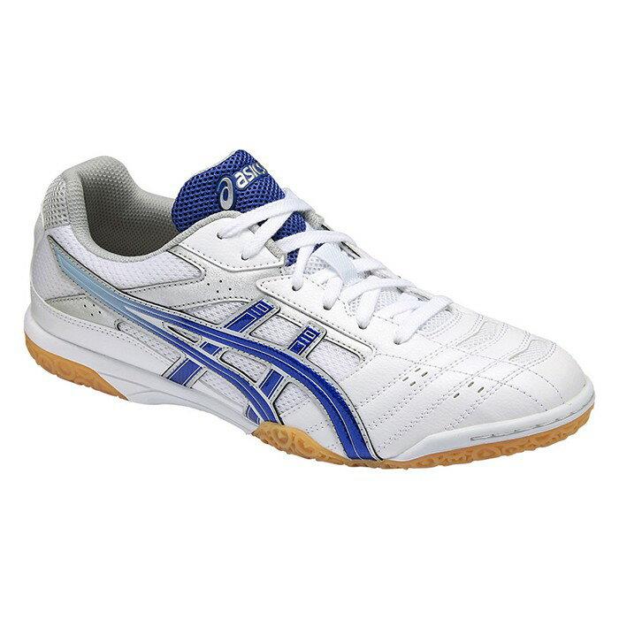 【asics 亞瑟士】ATTACK HYPERBEAT SP 2 男 女 桌球鞋 白藍 TPA332-0142