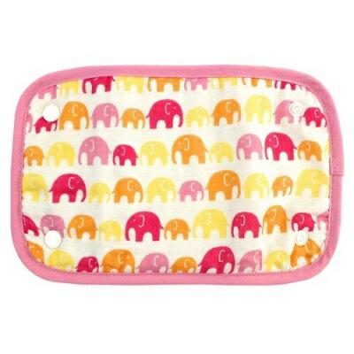 日本LUCKY 口水墊-粉紅象